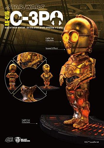 The Dancing Peanut Estatua de Ataque de Huevo de Star Wars con función de Sonido y luz, C-3PO (Episodio V) 13 cm