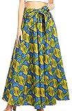 Sakkas 19417 - Pochettes et Taille élastique pour Femmes Maxi Long avec imprimé Africain et Ankara - Ami