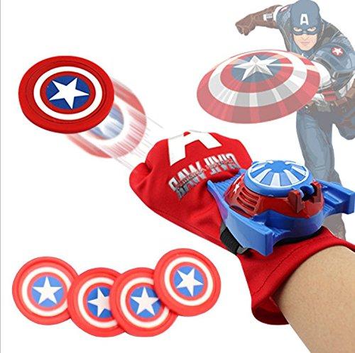 超凡蜘蛛侠手套 儿童玩具 手腕发射器 蝙蝠侠手套 动漫玩具 钢铁侠 (美国队长发射手套)