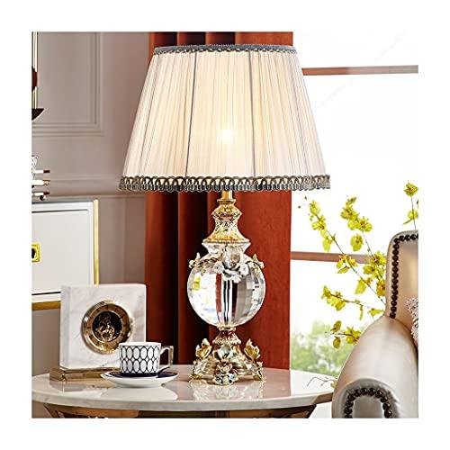 Lámpara de Cabecera Lámpara de mesa esmalte de color cristal lámpara de mesa cálida y romántica sala de estar dormitorio noche lámpara de noche moderna europeo lámpara decorativa LLámpara de Noche