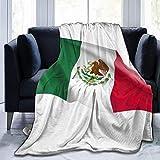 HDAXIA Manta,Bandera ondeante de México, América del Norte, Forro Polar de Franela Ultra Suave y cálido, Ligero para sofá Cama, sofá, Viaje, Camping para niños y Adultos
