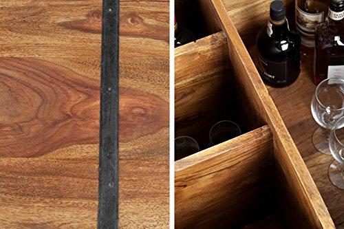 DuNord Design Couchtisch Hausbar Bonaire 100cm Palisander Sheesham Massivholz Truhe Bar - 7