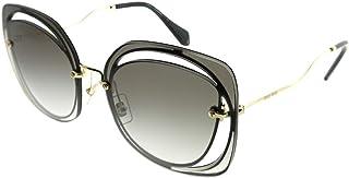 Miu Miu Oversized Sunglasses for Women , Grey - MU54SS 1AB0A764