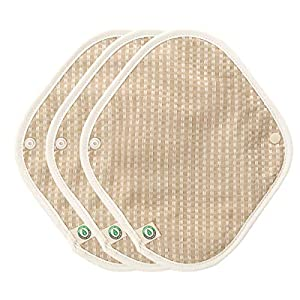 think ECO [3-Pads] Organic Reusable Cotton Cloth Panty Liner Pads, Menstrual Liner Pads, Sanitary Napkins, Three Pads Set
