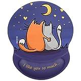 EXCO可愛いマウスパッド 低反発 シリコン充填 リストバンド 付きマウスパッド クリスマスプレゼント 手首パッドマウスパッド 彼女/子供のためのギフト 洗える(愛してる)