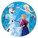 Disney Frozen Elsa, Ana & Olaf Oblea Comestible Para Tarta Redonda 20cm