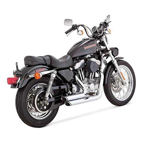 Scarichi Marmitte Shortshots Staggered Vance & Hines Cromati x Harley Davidson Sportster XL, Superlow XL883L, Sportster 883R, Iron 883 XL883N, Forty-Eight XL1200X, Seventy-Two XL1200V, 1200 Custom XL1200C, Roadster XL1200CX, Superlow 1200T XL1200T DAL 1999 AL 2003 99-03