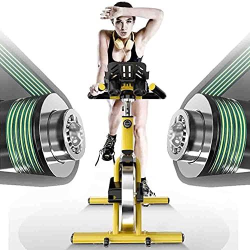 Qjkmgd Ejercicio silencioso Bicicleta 150kg, Bicicletas de Aptitud Interior para Interiores, Bicicleta magnética Vertical con Resistencia Bicicleta de Ciclismo Plegable con Contador de calorías
