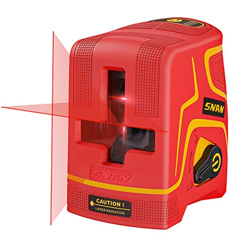 SNAN Laser Level Rechargeable, 98 Feet Line Laser,Three Kinds Of Line, Self-Leveling and Pulse Mode, Magnetic Base,Carrying Pouch,2200mAh Batteries Included,Laser Class: Class 2