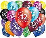 FABSUD Ballons Anniversaire 12 Ans - Lot de 20 Ballons 12