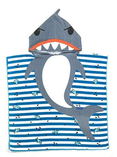 Juice Box - Toalla de Rizo con Capucha para niños, diseño de tiburón, Talla única