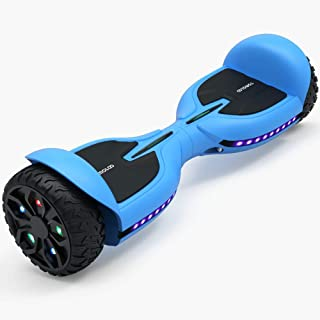 TOMOLOO Hoverboard for Kids and Adults, All-Terrain Off-Road Hover Board with 6.5-in Flashing Solid Wheel, UL2272 Electric...
