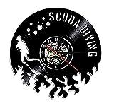 CHANGWW 1 Schallplatte Wanduhr 1 Tauchwanduhr Vinyluhr hergestellt für Tauchvinylaufzeichnungen...