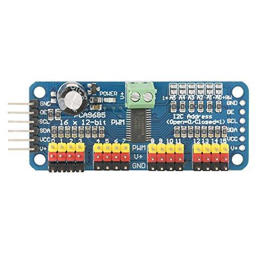 16-Kanal PWM- / Servo- / Lenkmotorlaufwerk-Controller, Roboter Motorreiber, IIC Modul, passend für SG90, MG995