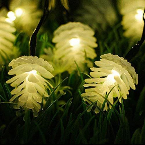 fgg Lámpara Solar jardín Navidad Guirnalda Luces LED Luces de Hadas de Cobre Luces de Cadena para Navidad Holiday Tree Home Party Decoration fengong