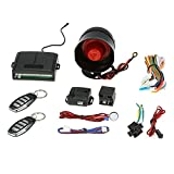 KKmoon 1-Way Car Vehicle Security System Protection Alarm with Siren 2 Remote; Remote