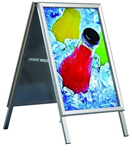 DISPLAY SALES Kundenstopper Outdoor Wasserfest, DIN A1, Plakatständer mit 32 mm, Gehrungsecken