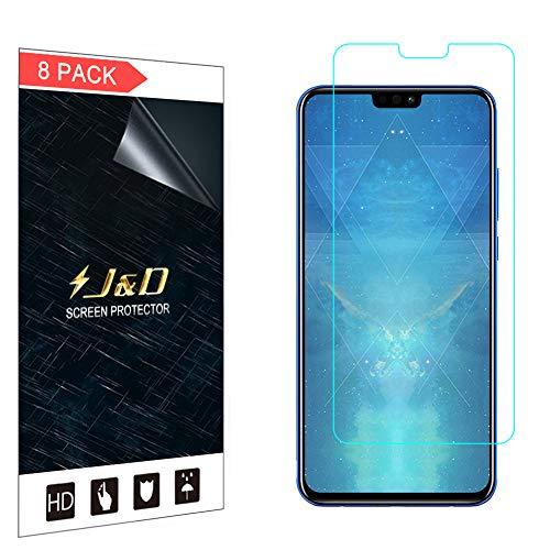 J&D Compatible para 8-Pack Huawei Honor 8X Protector de Pantalla, [NO Cobertura Completa] Prima...