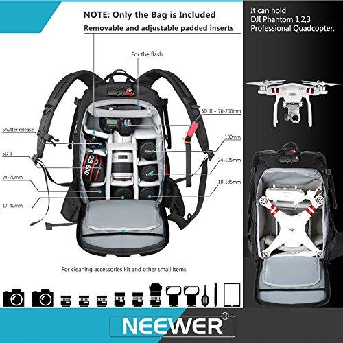 Neewer Pro Camera Case Waterproof Shockproof Adjustable Padded Camera Backpack Bag...