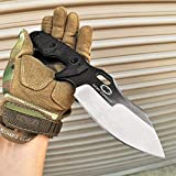KCCEDGE BEST CUTLERY SOURCE with Armour Tactical Knife Hunting Knife Survival Knife 9.5' Full Tang Fixed Blade Knife Camping Accessories Camping Gear Survival Kit Survival Gear Tactical Gear 79637