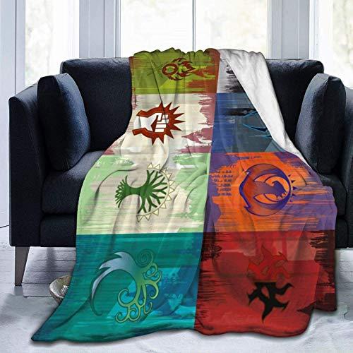 Magic The MTG - Manta de franela cálida y acogedora para sofá, viajes, yoga, camping, picnic, cine, hogar, playa, tamaño para guardería, niños, adultos, 60 x 50 pulgadas