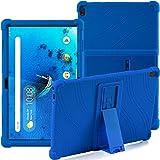 Funda para Lenovo Tab M10 (TB-X505F / TB-X605F / TB-X705F) de 10,1 pulgadas, con soporte, de silicona, suave, antigolpes, de goma, carcasa protectora para tablet Lenovo Tab M10 (azul)