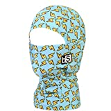 BLACKSTRAP Kids The Hood Dual Layer Cold Weather Neck Gaiter and Warmer for Children, Lightning Bolts