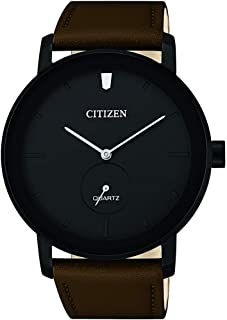 Citizen Mens Quartz Watch, Analog Display and Leather Strap - BE9185-08E