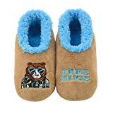 Snoozies Mens Pairable Slippers | Comfortable Slippers for Men | Fuzzy Mens Slipper Socks | Soft Sole Mens House Slippers | Free Hugs | X-Large