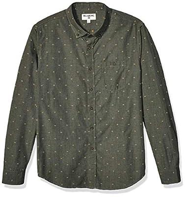 Billabong Men's All Day Jaquard Long Sleeve Shirt, Dark Military, L from Billabong