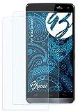 Bruni Schutzfolie kompatibel mit Wiko Getaway Folie, glasklare Bildschirmschutzfolie (2X)