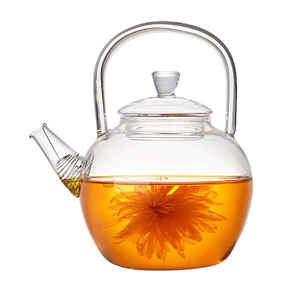 Teapots Coffee Servers Teapot Glass Teapot Household Filter No Heavy Metal Glass Teapot Large Capacity Removable High Temperature Teapot Ice Coffee Maker (Color : Clear, Size : 850ml)