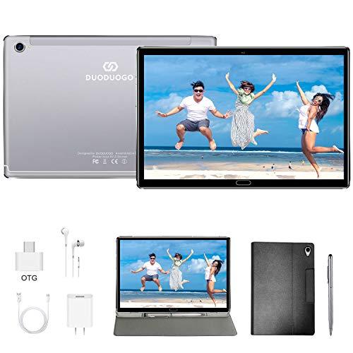 Tablet 10.8 Pulgadas, Diez núcleos 4GB de RAM y 64 GB/512GB ROM 5G WiFi Tableta Android Resolución 2560 * 1600, Certificación Google GMS, Dobles SIM, GPS, Tablet 10.8' Baratas y Buenas (Plata)