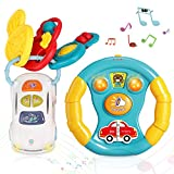 TOY Life Baby Musical Toy Keys with Baby Wheel - Baby Car Set Toy Baby Light Up Toys Car Wheel &...