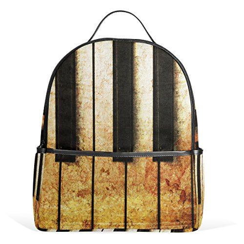 ALAZA Altes Klavier Vintage-Rucksack für Schule Bookbag
