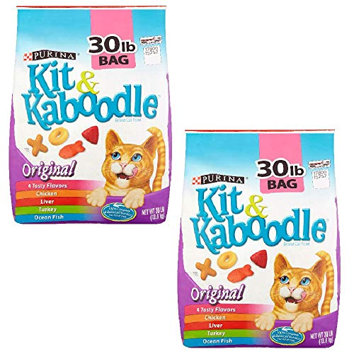 Purina Kit & Kaboodle, Dry Cat Food, Original, 30 Lb Bag (Pack of 2)