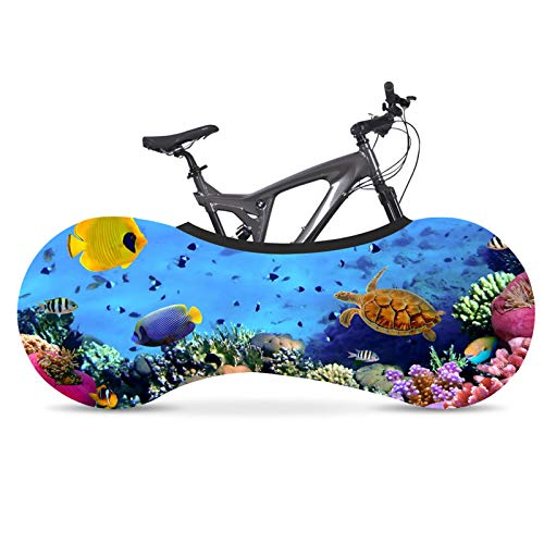 KHXJYC Bicycle Dust Cover Wheel Cover, Mountain Bike Jersey Dust Cover Cover, Elastic Dust Cover Marine Series,#8