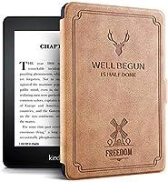 Kindle Paperwhite 4(10th Generation、2018 Release)-電子書籍用の自動スリープウェイク機能を備えた防水レザーレトロケース