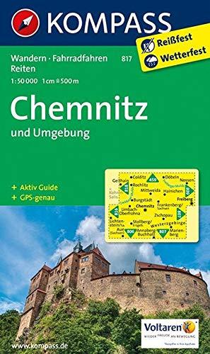 KOMPASS Wanderkarte Chemnitz und Umgebung: Wanderkarte mit Aktiv Guide, Rad- und Reitwegen. GPS-genau. 1:50000 (KOMPASS-Wanderkarten, Band 817)