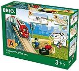 BRIO World 33773 Eisenbahn Starter Set A – Die perfekte erste Holzeisenbahn mit Tunnel und Figuren...