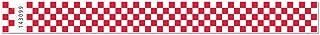 1 Inch Tyvek Checkerboard Wristbands - Durable Unique Tamper Cuts - Red - 500 Units Per Box