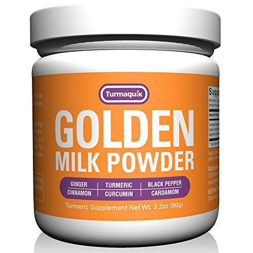 Golden Milk Powder (90 Servings) Turmeric 6 Superfood Blend - Non GMO Vegan Keto