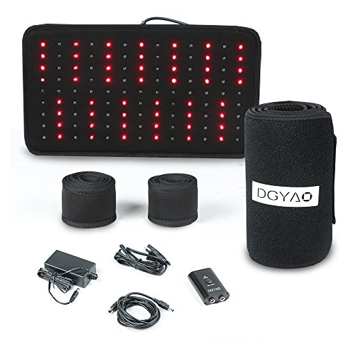 Red Light Near Infrared Therapy Led Benefits Back Pain Reliever Home Use Wearable Wrap Deep Penetrating Heals Lighting Pad Relief for Arthritis Feet Joints Muscle Knee Elbow Inflammation Nerve Damage