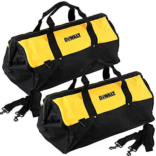 DeWalt - Contratista de lona de nailon resistente, 6 bolsillos, 2 bolsas, color amarillo