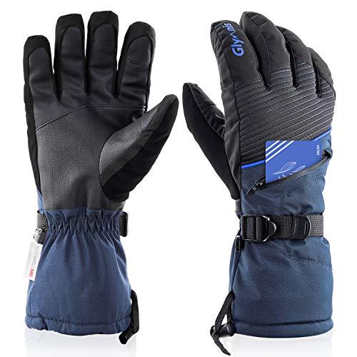 guanti sci Glymnis Guanti da Sci Guanti Invernale Impermeabili con Touchscreen