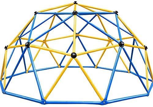 Zupapa Outdoor Geometric Climbing Dome, with 750LBS Weight Capability, 3-Year Warranty with 3D Assembly Video Dome Climber (Blue)