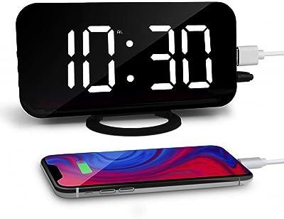 Klicop Reloj Despertador Digital, Reloj Despertador, Pantalla LED Grande de 6.5