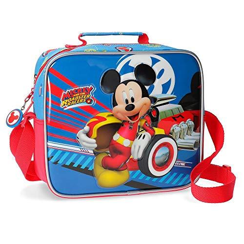 Disney World Mickey Neceser Adaptable con Bandolera Multicolor 23x20x9 cms Poliéster