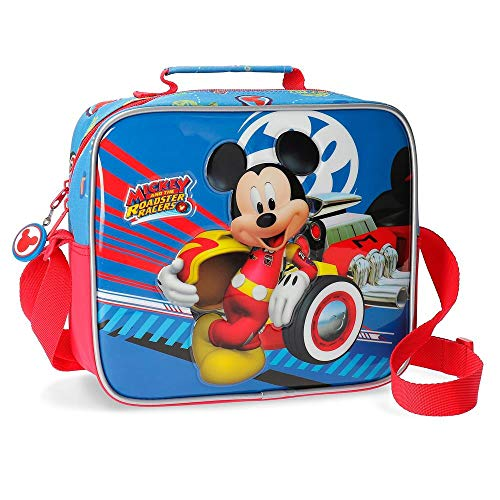 Disney World Mickey Neceser Adaptable con Bandolera Multicolor 23x20x9 cms Poliéster