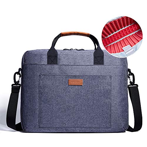 KALIDI 13,3-14 inch laptoptas waterbestendig schokbestendig schoudertas computerhoes met afneembare riem voor laptop, Macbook, notebook, Chromebook, tablet Indigo Blauw